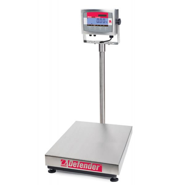 OHAUS Defender 3000 D32XW30VR - 30kg x 0.005kg washdown platform scale