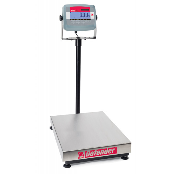 OHAUS Defender 3000 D31P60BL - 60kg x 0.02kg platform scale - Trade Approved