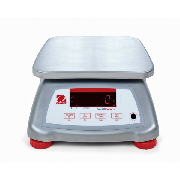 OHAUS Valor 4000 V41XWE15T - 15kg x 5g - Trade Approved washdown bench scale