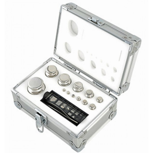 1mg to 500g - Class F1 stainless steel calibration weight set